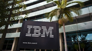 The IBM logo is seen outside the company's offices in Petah Tikva, near Tel Aviv October 24, 2011. REUTERS/Nir Elias (ISRAEL - Tags: BUSINESS SCIENCE TECHNOLOGY LOGO) - RTR2T4QN