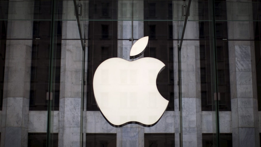 File photo - An Apple logo hangs above the entrance to the Apple store on 5th Avenue in the Manhattan borough of New York City, July 21, 2015. (REUTERS/Mike Segar)
