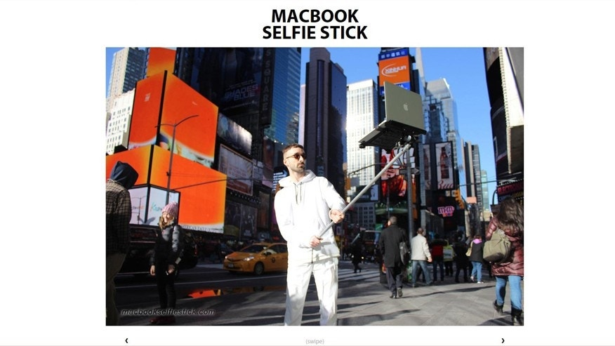 (Screenshot from www.macbookselfiestick.com)