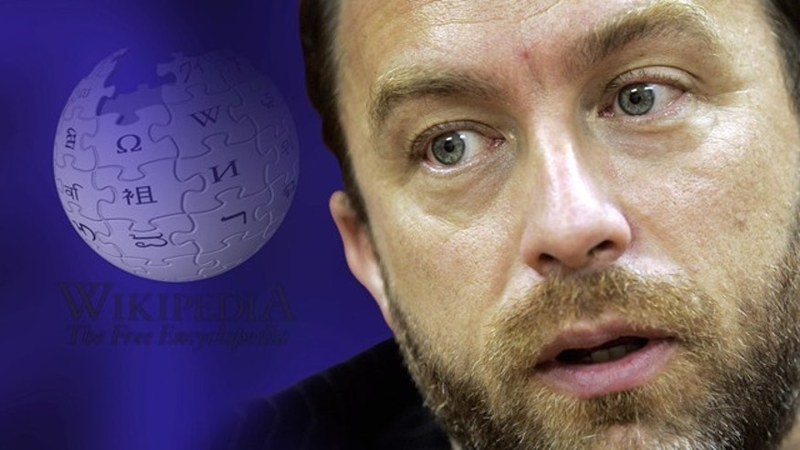 File photo - June 29, 2007: Jimmy Wales, founder of Wikipedia, answers a question during an interview in St. Petersburg, Fla. (AP Photo/Chris O'Meara)