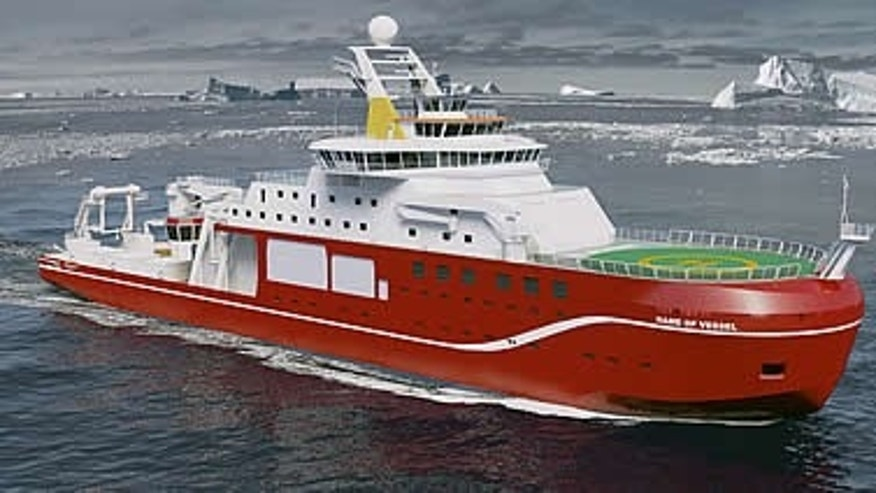Artist's impression of the polar vessel (Cammell Laird/BAS)