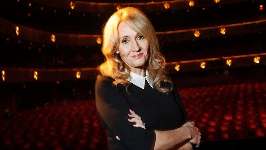 "File photo - Author J.K. Rowling poses for a portrait while publicizing her adult fiction book ""The Casual Vacancy"" at Lincoln Center in New York Oct. 16, 2012. (REUTERS/Carlo Allegri)"