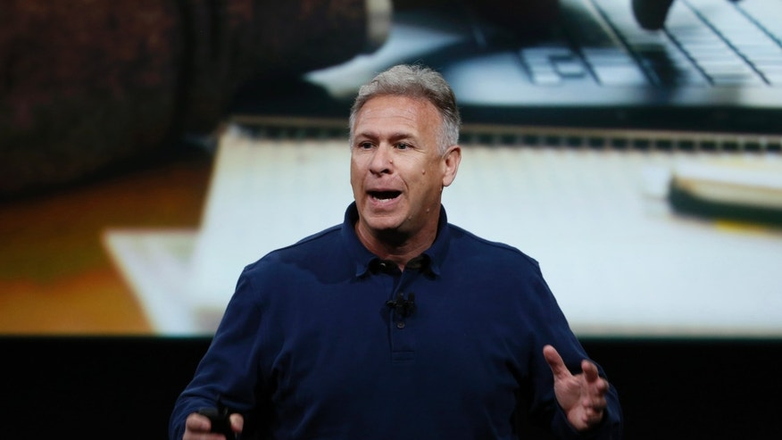 File photo - Phil Schiller, senior VP of worldwide marketing for Apple, introduces the iPad Pro with 9.7-inch display during an event at the Apple headquarters in Cupertino, California March 21, 2016. (REUTERS/Stephen Lam)