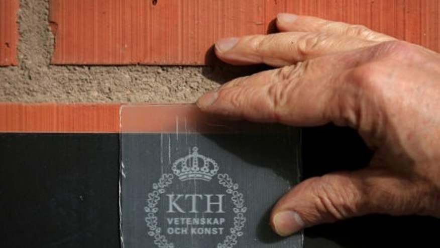 A close-up look at the transparent wood created at KTH Royal Institute of Technology.  (Credit: KTH Royal Institute of Technology)