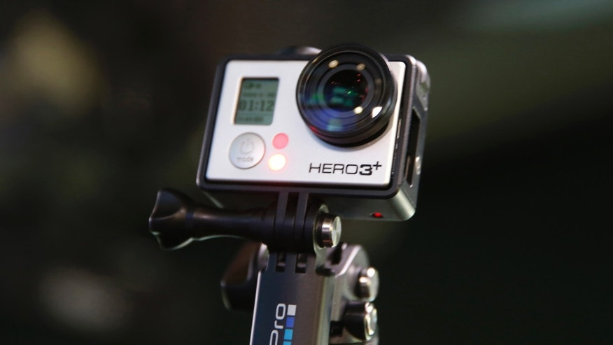 A GoPro Hero 3+ camera is seen at the Nasdaq Market Site before before GoPro Inc's IPO in New York City, June 26, 2014. (REUTERS/Mike Segar)