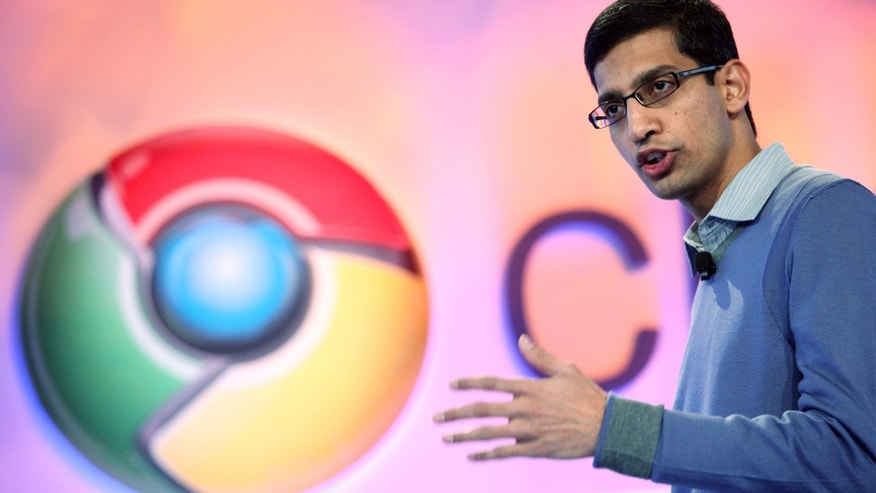 File photo - Sundar Pichai, vice president of product management for Google, speaks during the company's Chrome event in San Francisco Dec. 7, 2010. (REUTERS/Beck Diefenbach)