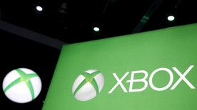 A Microsoft Xbox video game logo is seen at the Electronic Entertainment Expo, or E3, in Los Angeles, California, United States, June 17, 2015. Virtual reality gaming, once a distant concept, became the new battleground at this year's E3 industry convention, with developers seeking to win over fans with their immersive headsets and accessories. REUTERS/Lucy Nicholson  - RTX1GZHS