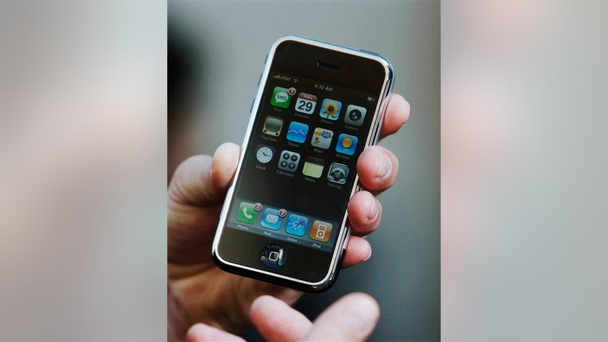 An iPhone in 2007, 15 years after Ross says he invented the device.