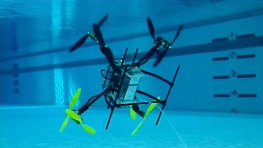 Rutgers University's innovative drone (Image: courtesy Javier Diez).