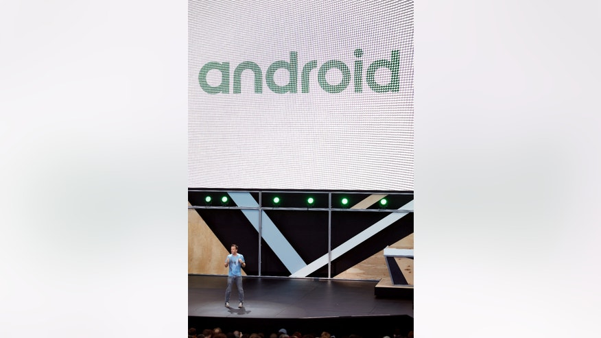 Dave Burke, director of engineering for Android, speaks during the Google I/O 2016 developers conference in Mountain View, California May 18, 2016.