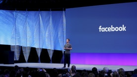 Facebook CEO Mark Zuckerberg speaks on stage during the Facebook F8 conference in San Francisco, California April 12, 2016. REUTERS/Stephen Lam - RTX29NQV