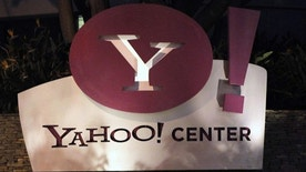 The Yahoo! offices are pictured in Santa Monica, California.