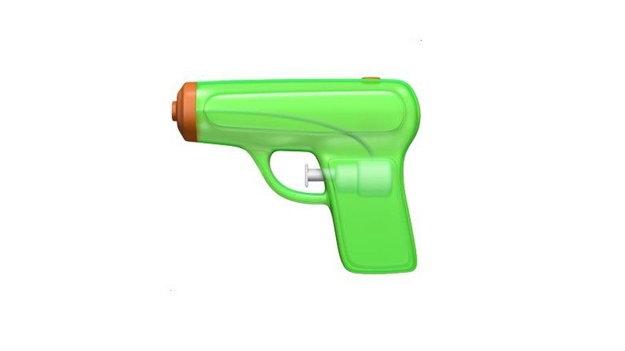 Apple's water gun emoji (Apple)