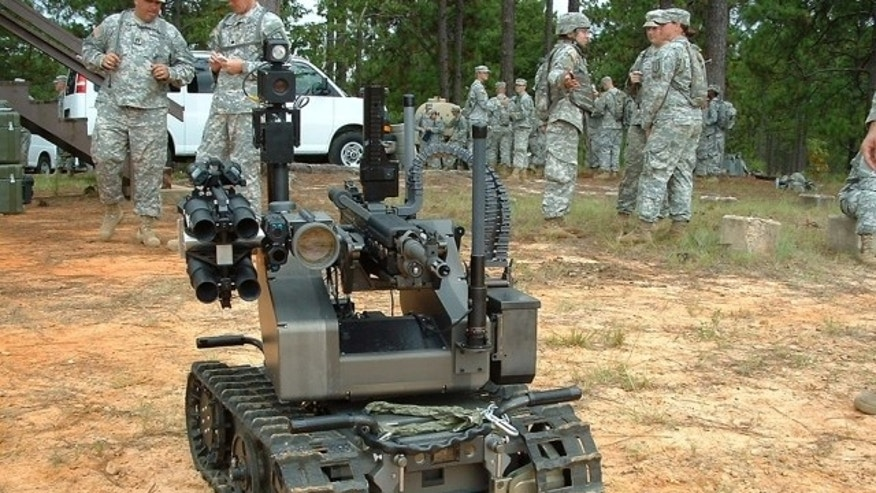 File photo - The Modular Advanced Armed Robotic System (U.S. Army)