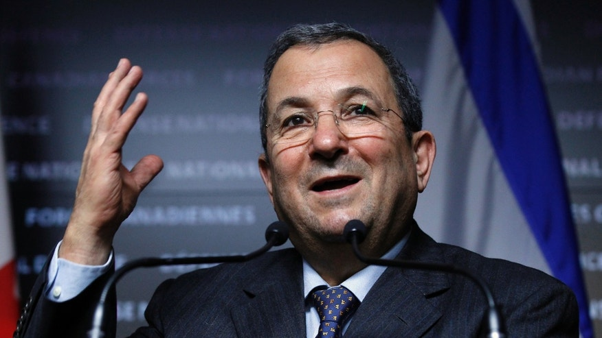 File photo - Israel's then Defence Minister Ehud Barak takes part in a news conference in Ottawa Nov. 16, 2011. (REUTERS/Blair Gable)