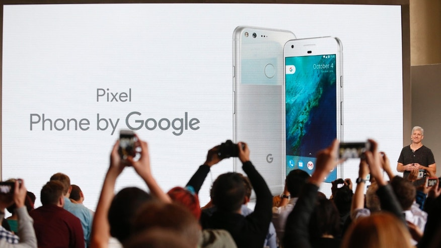Rick Osterloh, SVP Hardware at Google, introduces the Pixel Phone by Google during the presentation of new Google hardware in San Francisco, California, U.S. October 4, 2016. (REUTERS/Beck Diefenbach)