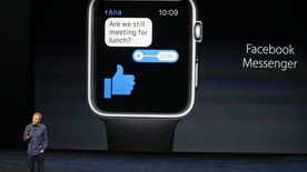 Jeff Williams, Apple's senior vice president of Operations, speaks about the Apple Watch and Facebook Messenger during an Apple media event in San Francisco, California, September 9, 2015. Reuters/Beck Diefenbach - RTSCN3