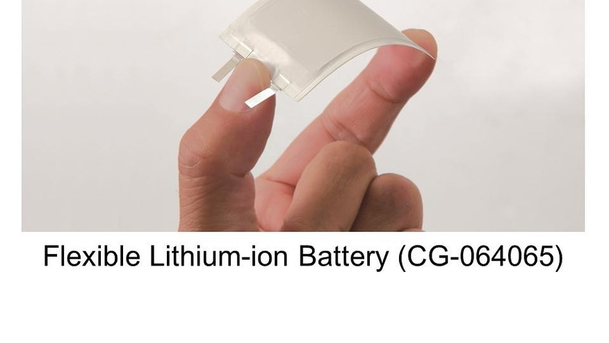 The bendable battery could be used in wearable devices such as smartwatches, fitness bands and smart clothing.