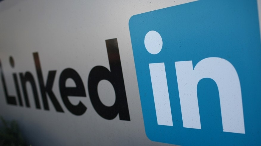 File photo - The logo for LinkedIn Corporation, a social networking website for people in professional occupations, is pictured in Mountain View, California Feb. 6, 2013. (REUTERS/Robert Galbraith)