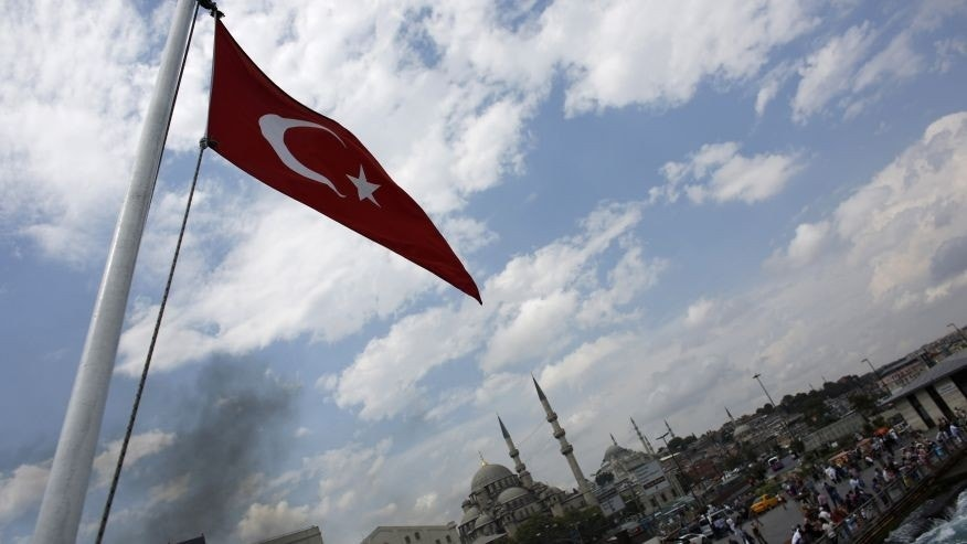 File photo - A Turkish flag flies on a passenger ferry in Istanbul August 7, 2014. (REUTERS/Murad Sezer)