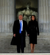 U.S. President-elect Donald Trump and his wife Melania take part in a Make America Great Again welcome concert at the Lincoln Memorial in Washington, U.S. January 19, 2017. REUTERS/Jonathan Ernst - RTSWCK1