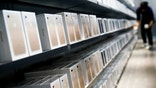 Apple's new iPhone 7 smartphones sit on a shelf at an Apple store in Beijing, China, September 16, 2016.  REUTERS/Thomas Peter - RTSNYWT