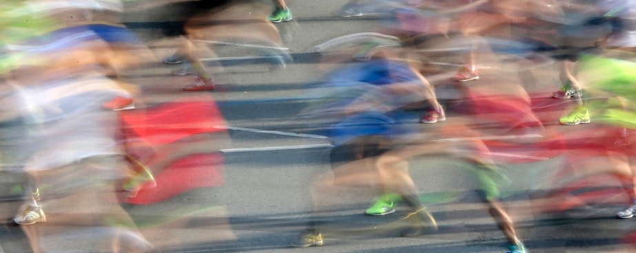 Runners compete at the Berlin marathon in Berlin, Germany, September 25, 2016. REUTERS/Fabrizio Bensch - RTSPBEB
