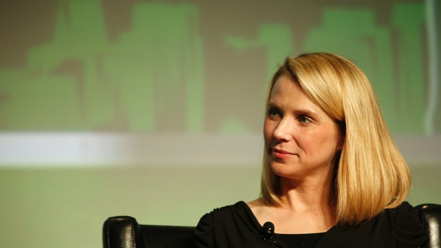 File photo - Yahoo! Chief Executive Marissa Mayer listens in a Startup Battlefield session during TechCrunch Disrupt SF 2012 at the San Francisco Design Center Concourse in San Francisco, California Sept. 12, 2012. (REUTERS/Stephen Lam)