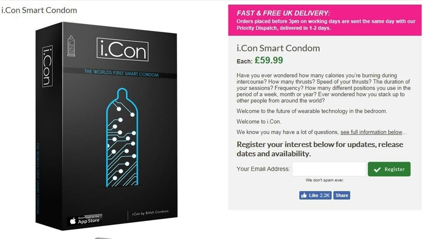 Smart condom i-Con will rate your sexual performance