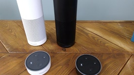 The Amazon Echo, a voice-controlled virtual assistant, is seen at it's product launch for Britain and Germany in London, Britain, September 14, 2016. REUTER/Peter Hobson - RTSNQKL