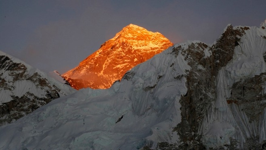 File photo - In this Nov. 12, 2015 file photo, Mt. Everest is seen from the way to Kalapatthar in Nepal. (AP Photo/Tashi Sherpa, file)