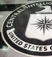 The logo of the U.S. Central Intelligence Agency is shown in the lobby of the CIA headquarters in Langley, Virginia  March 3, 2005. [U.S. President George W. Bush visited the headquarters for briefings Thursday.] - RTXNAM5