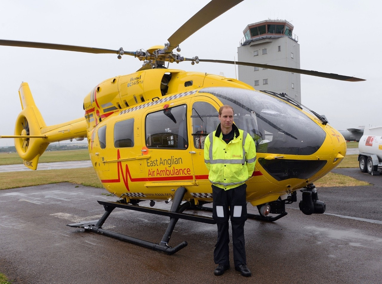 Air Ambulance Regularly Flown by Prince William in Drone Near-miss