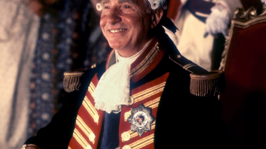 "File photo - Nigel Hawthorne is shown as he portrays the character ""King George III"" in a scene from ""The Madness of King George"" for which he received an Oscar nomination for Best Actor in a film Feb. 14 (Reuters)."