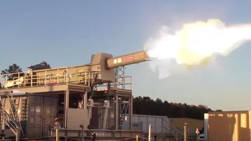 Watch US Navy Researchers Test-fire an Electromagnetic Railgun