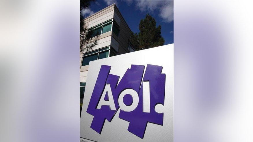 The exterior of the AOL offices in Palo Alto, Calif.
