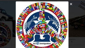 The logo for the parody immigration Twitter account @alt_uscis, the subject of administrative summons from the U.S. government to social media company Twitter, is seen in a screenshot taken April 6, 2017.   @alt_uscis/Handout via Reuters  TPX IMAGES OF THE DAY. FOR EDITORIAL USE ONLY. NO RESALES. NO ARCHIVES - RTX34G8L