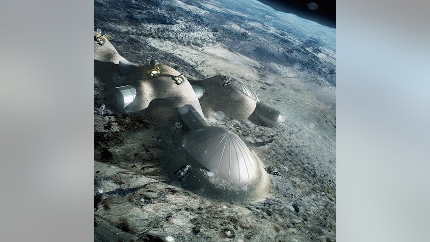 Artist's illustration of a crewed moon base. Establishing such off-world outposts and a sustainable space economy will require a secure and safe environment, Air Force officials have said.