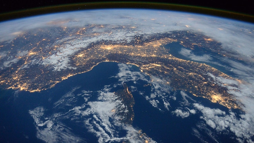 File photo: A photo taken by Expedition 46 flight engineer Tim Peake of the European Space Agency (ESA) aboard the International Space Station shows Italy, the Alps, and the Mediterranean on January, 25, 2016. (REUTERS/NASA/Tim Peake)