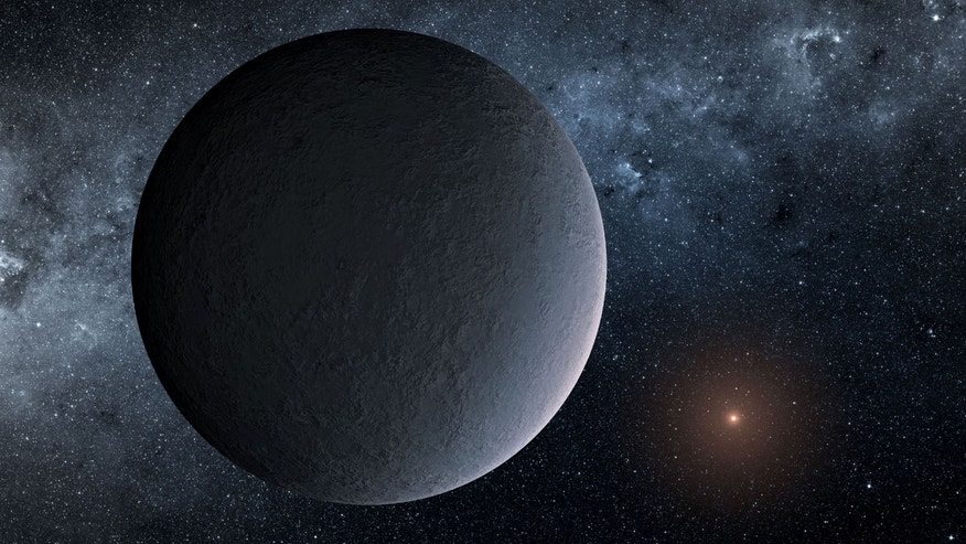 This artist's illustration shows frigid OGLE-2016-BLG-1195Lb, a roughly Earth-mass exoplanet likely discovered through a technique called microlensing.