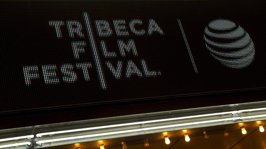 "The marquee is seen at world premiere of the film ""Live From New York"" at the 2015 Tribeca Film Festival, in New York April 15, 2015. (REUTERS/Andrew Kelly)"