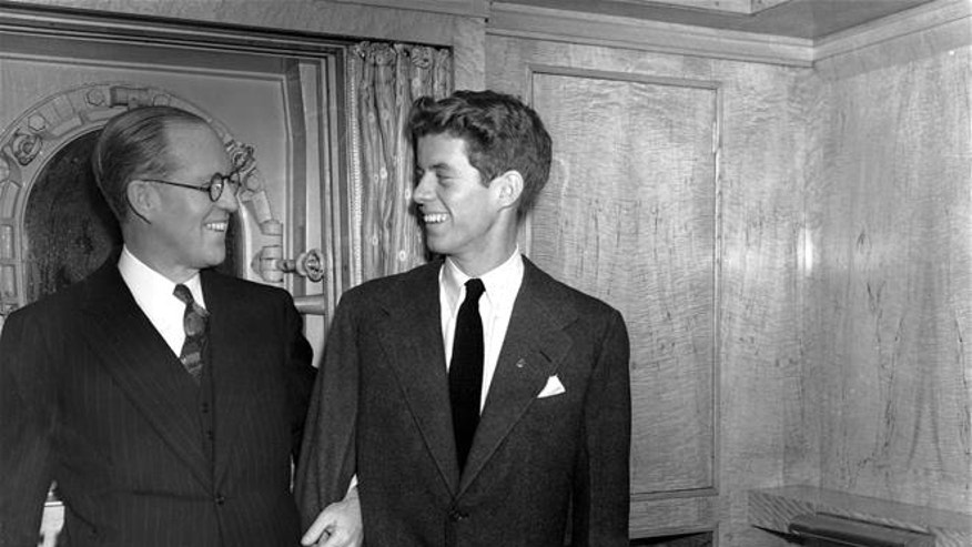 John F. Kennedy, with his father, Joseph, in 1938.