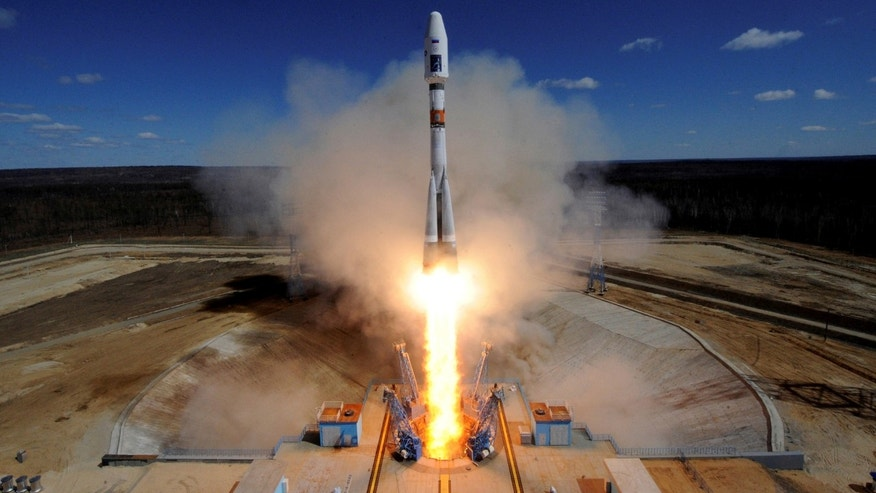 File photo: A Russian Soyuz 2.1A rocket carrying Lomonosov, Aist-2D and SamSat-218 satellites lifts off from the launch pad at the new Vostochny cosmodrome outside the city of Uglegorsk, about 200 kms from the city of Blagoveshchensk in the far eastern Amur region, Russia April 28, 2016. (REUTERS/Kirill Kudryavtsev)