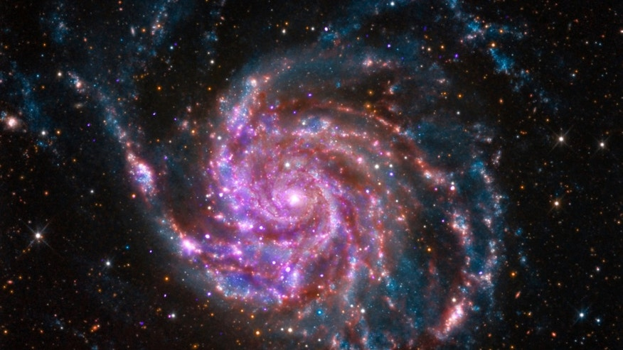 File photo: The spiral galaxy M101 is pictured in this undated handout photo from NASA's Chandra X-Ray Observatory. M101 is a spiral galaxy like our Milky Way, but about 70 percent bigger. It is located about 21 million light years from Earth. (REUTERS/NASA/Handout via Reuters)