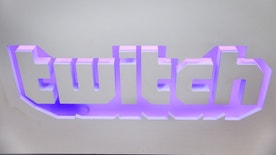 The twitch logo is seen at the offices of Twitch Interactive Inc, a social video platform and gaming community owned by Amazon, in San Francisco, California, U.S., March 6, 2017.  REUTERS/Elijah Nouvelage - RTS11PYH