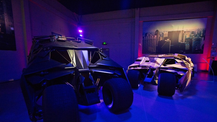 "File photo: Tumbler vehicles used in Batman movies are pictured during a media preview of Warner Bros. VIP Studio Tour ""The Batman Exhibit"" in Burbank, California June 26, 2014. (REUTERS/Mario Anzuoni)"