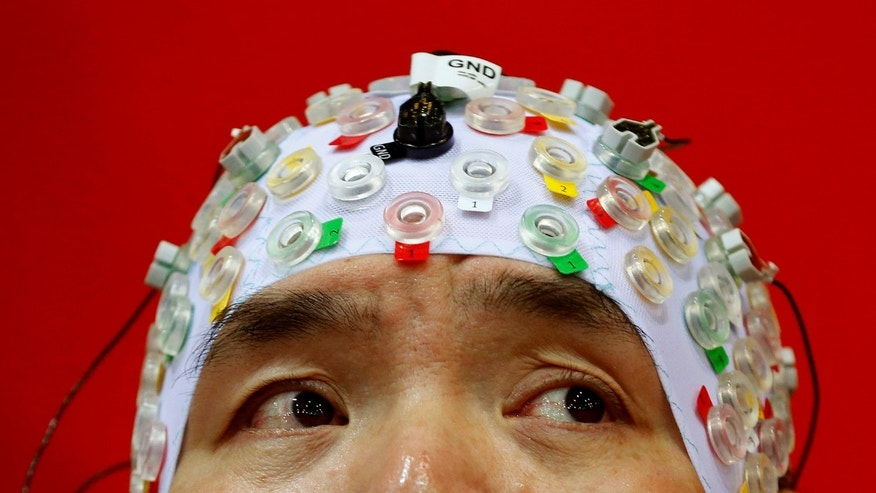 File photo: Hong Gi Kim of South Korea competes during the Brain-Computer Interface Race (BCI) at the Cybathlon Championships in Kloten, Switzerland October 8, 2016. (REUTERS/Arnd Wiegmann)