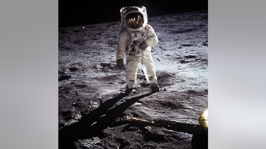 "File photo - Astronaut Edwin E. Aldrin Jr., lunar module pilot, walks on the surface of the moon near the leg of the Lunar Module (LM) ""Eagle"" during the Apollo 11 extravehicular activity (EVA) in this July 20, 1969 NASA handout photo. (REUTERS/NASA/Handout via Reuters)"