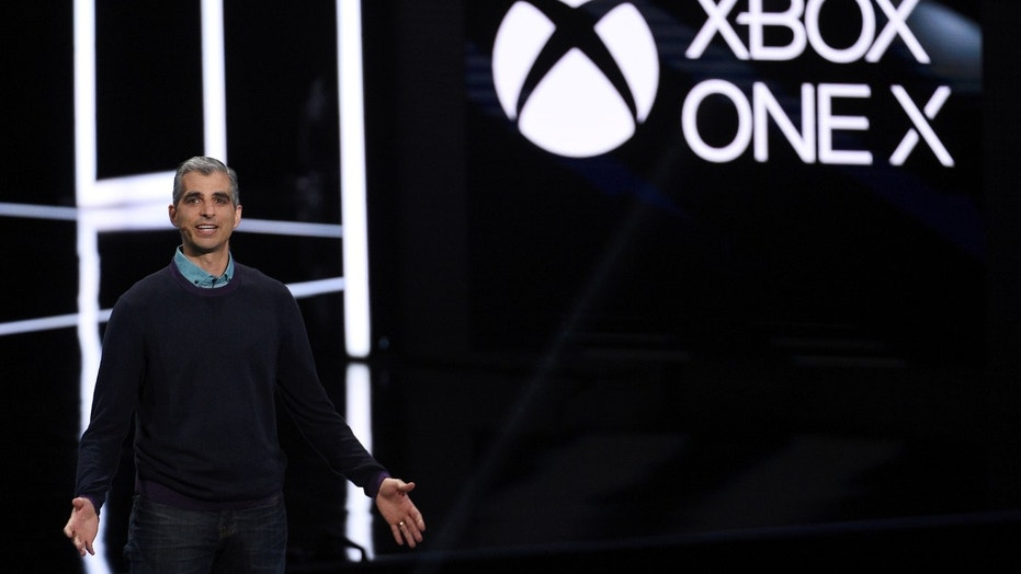 File photo: Kareem Choudhry, Xbox Vice President, introduces the Xbox One X gaming console during the Xbox E3 2017 media briefing in Los Angeles, California, U.S., June 11, 2017. (REUTERS/Kevork Djansezian)