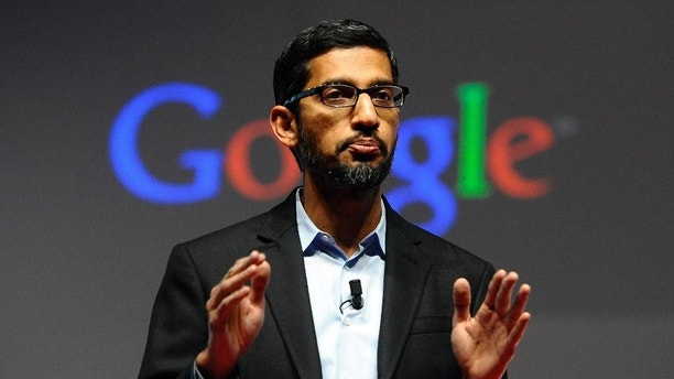 FILE - In this Monday, March 2, 2015 file photo, Sundar Pichai, senior vice president of Android, Chrome and Apps, talks during a conference during the Mobile World Congress, the world's largest mobile phone trade show in Barcelona, Spain. Google is creating a new company, called Alphabet, to oversee its highly lucrative Internet business and a growing flock of other ventures, including some — like building self-driving cars and researching ways to prolong human life — that are known more for their ambition than for turning an immediate profit. Pichai will become CEO of Google's core business, including its search engine, online advertising operation and YouTube video service. (AP Photo/Manu Fernandez, File)